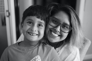 Woman And Son, Happy